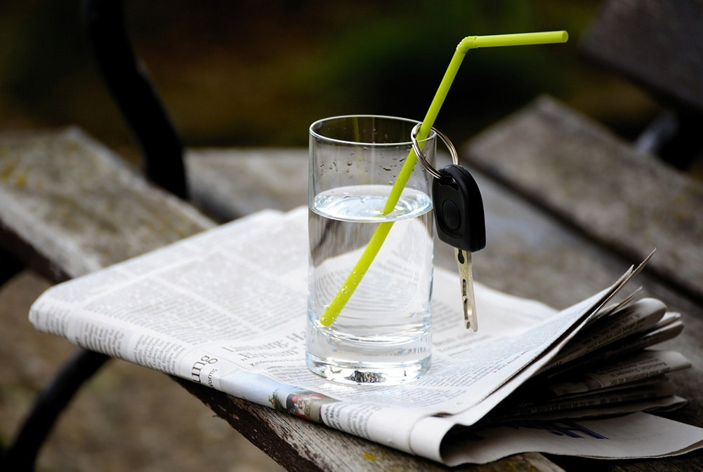 Wasser statt Alkohol Abstinenz
